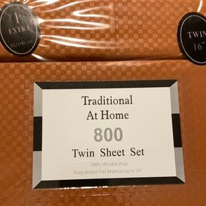 Traditional At Home 4pc Twin Sheet Set Auburn rust